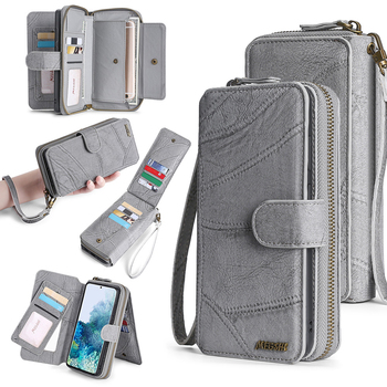 Wallet Leather Phone Case For Samsung Galaxy Note20 M21 S8 S9 S10 S20 A20E A40 A50 A51 A70 A71 Magnetic purse business wallet