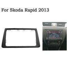 Ramka wykończeniowa radia samochodowego do SKODA Rapid 2013 stereo 2din panel ramka zestaw do montażu na desce rozdzielczej adapter tapicerka Bezel facia