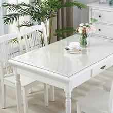 Nappe de Table en verre souple 1mm, PVC Transparent, imperméable, rectangulaire, tapis de Table de cuisine résistant à l'huile