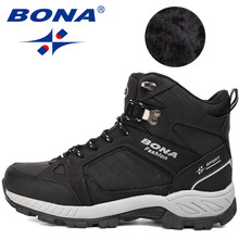 Men Boot Shoes Sneakers Ankle-Rubber BONA Climbing Classics-Style New Multi-Fundtion
