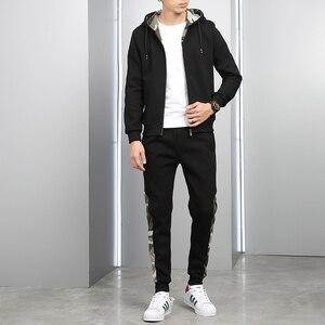 Image 2 - Brand New Men Sets Fashion Autumn Spring Sporting Suit Sweatshirt +Sweatpants Mens Clothing 2 Pieces Sets Slim Tracksuit