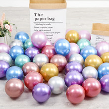 10/20/50 pcs 5 inch Pink Silver Green Blue Metallic Balloons Chrome Helium Globos Wedding Decorations Happy Birthday Party