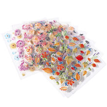 1 лист 5d ногтей Стикеры s рельефный рисунок ломтик цветок передачи