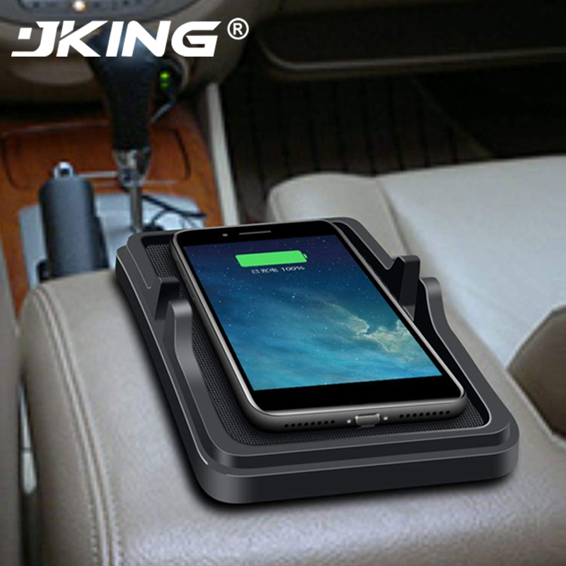JKING Qi Voiture Chargeur sans fil support pour Iphone XS MAX XR 8 plus X Samsung S8 S10 S9 Plus Note8 Chargeur Induction Voiture