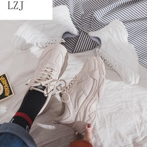 Image 4 - Size 35 40 2019 New Casual Womens Sneakers Lace Up Platform Shoes Woman For Thick Soled Vulcanize Shoes Comfortable Footwear