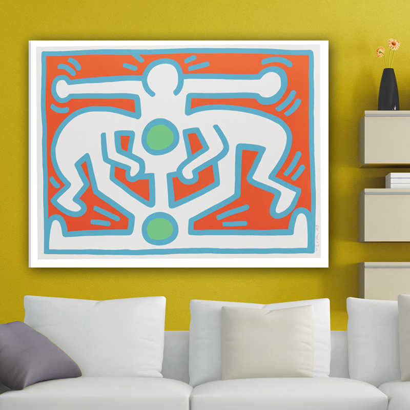 KEITH HARING Growing Abstract Painting 1988 Original Pop ART -17 GICLEE poster prints on canvas free shipping wall picturess