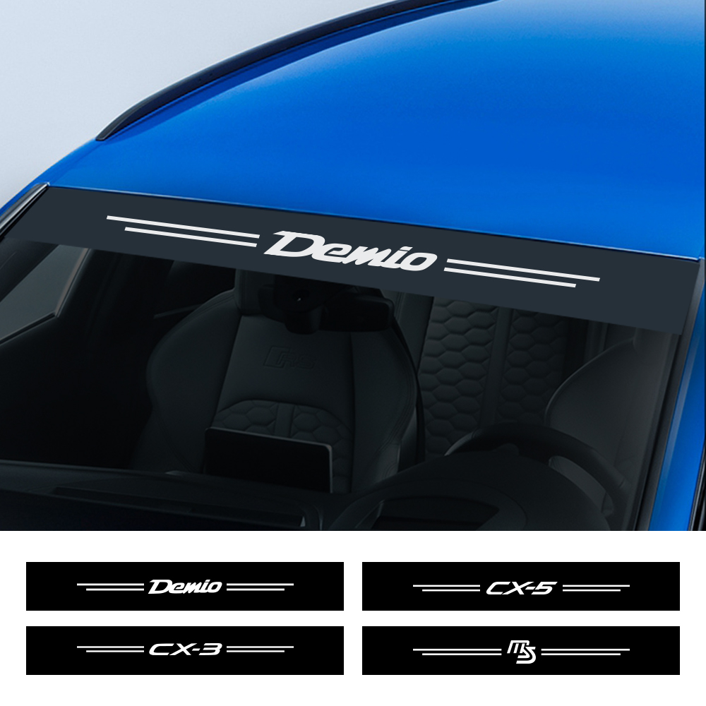 Auto Reflective Windshield Stickers For <font><b>Mazda</b></font> Demio CX-5 CX-3 3 <font><b>6</b></font> Axela Atenza MS <font><b>MPS</b></font> Car Front Windscreen Sunshade Accessories image