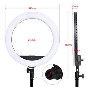 Image 2 - Fosoto Anillo de luz Led para SLP R300, 60W, 300 Uds., con trípode, iluminación fotográfica, para cámara, teléfono, maquillaje, Youtube