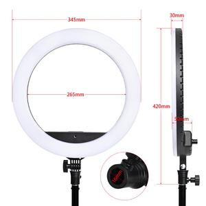 Image 2 - fosoto SLP R300 Ring Light 60W 300pcs Led Ring Lamp With Tripod Photographic lighting Ringlight For Camera Phone Makeup Youtube