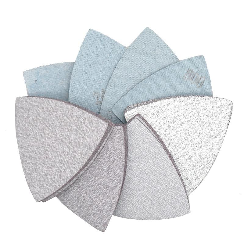 25 Pcs 90*90*90mm Sanding Sheets Triangle Sandpaper Hook & Loop 60 To 800 Grits Abrasive Sanding Disc For Wood Metal Sanding