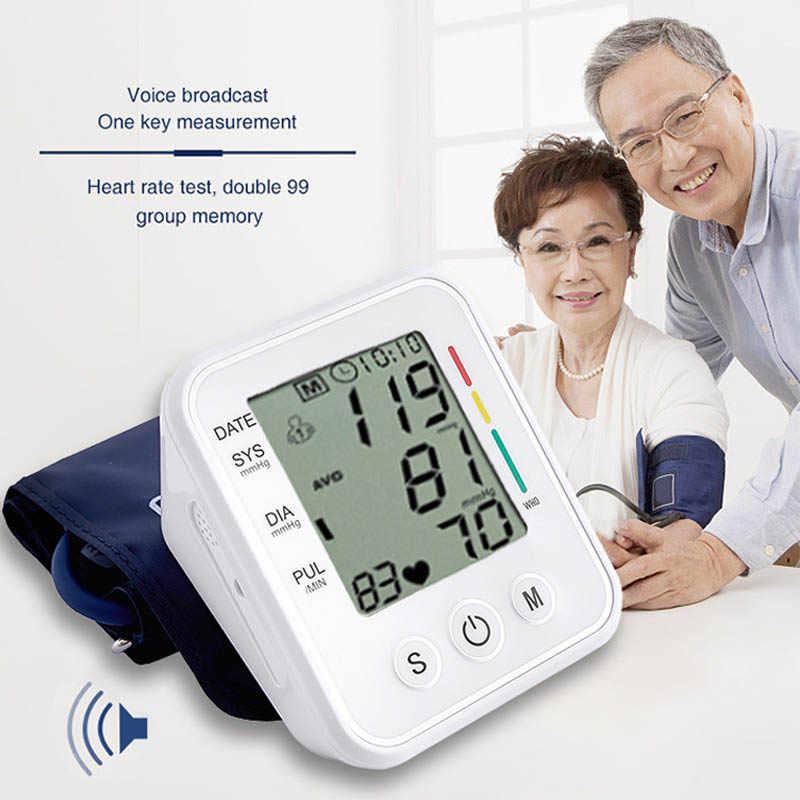 แขนความดันโลหิตอัตโนมัติ BP Sphygmomanometer เครื่องวัดความดันโลหิต Tonometer เครื่องสำหรับวัดความดันเลือดแดง
