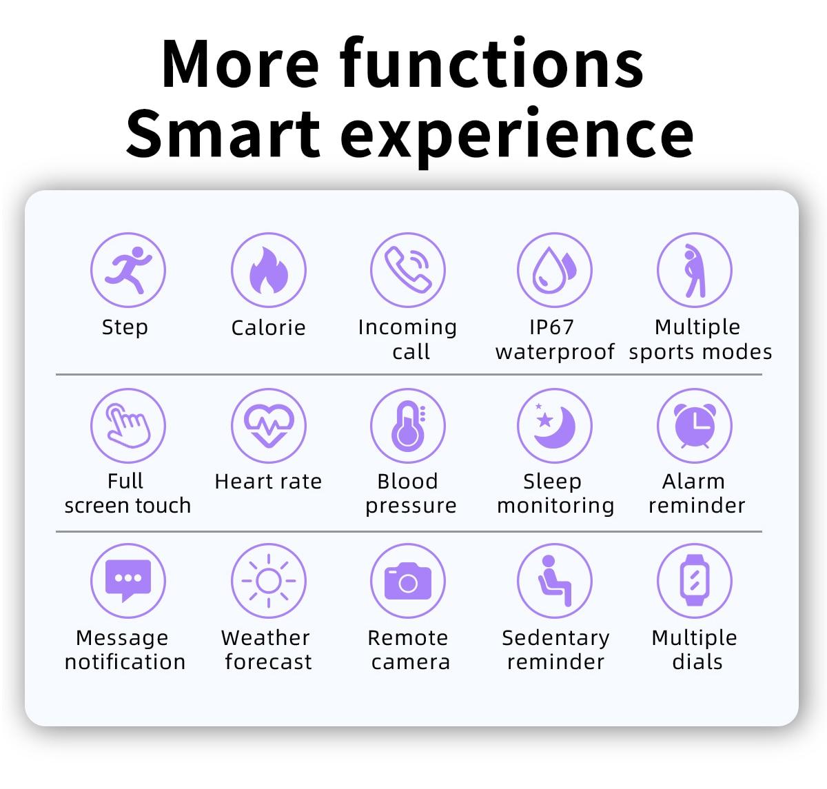 H7f621bd8c92f44008c11697048e13b61D LIGE 2021 Fashion Smart Watch Men Fitness Bracelet Heart Rate Blood Pressure Monitoring Sports Tracker Smartwatch Gift for Women
