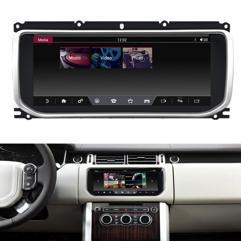 10.25 Inch Android 7.1 2+32GB Car GPS Navigation Multimedia Bluetooth Player For Land Rover Evoque 2012-2016