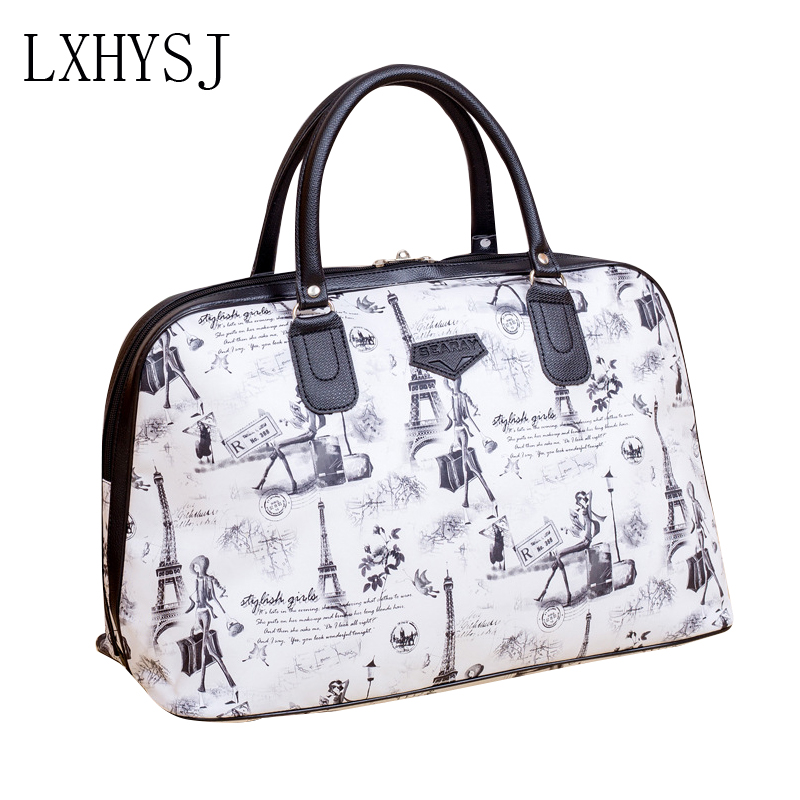 Travel Bag Large Capacity Luggage Bags Women's Sport Bag Waterproof Hand Travel Duffle PU Leather Fashion Print Weekend Package