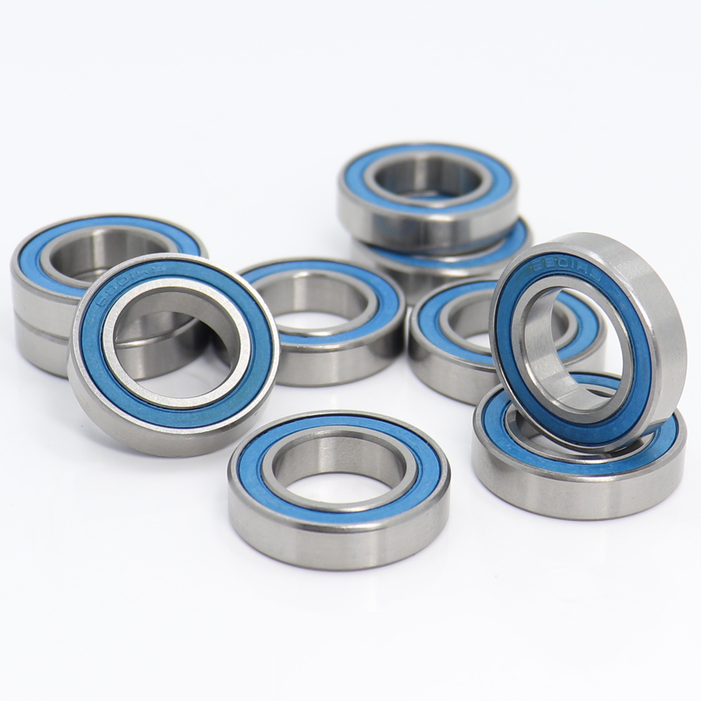 6801RS Bearing ABEC-3 (10PCS) 12*21*5 Mm Thin Section 6801-2RS Ball Bearings 61801 RS 6801 2RS With Blue Sealed L-2112DD