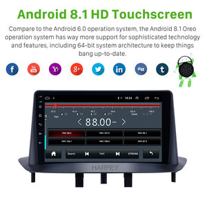 Image 3 - Harfey 9 inch Bluetooth GPS Navigation Car Radio Android 9.0 HD Touchscreen For Renault Megane 3 2009 2014 support Carplay SWC