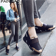 women Femine lace-free casual thicken soft sole Plimsolls moccasin Zapatillas