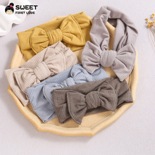 Solid Color Baby Headband Knit Bow Elastic Hairband For Children Turban Headbands Hair Bands For Baby Girls Hair Accessories