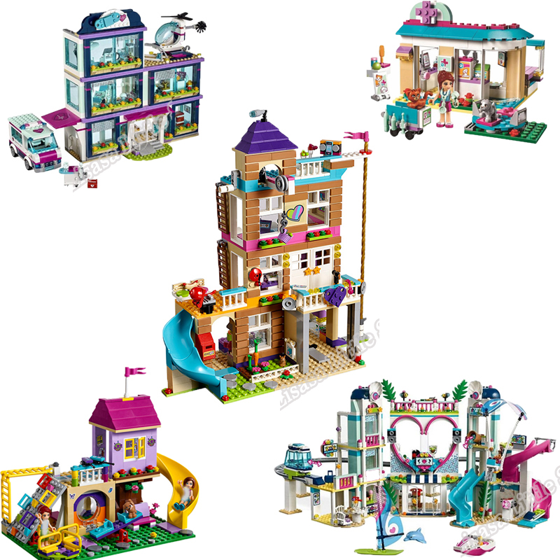 New Friends The Heartlake City Resort Compatible Girl Friends Building Block Brick Toys Girl Children Christmas Gifts