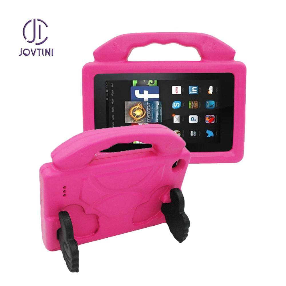 Kids Case For Amazon Kindle Fire HD7 HD 7 2015 2017 2019 7 inch Non-toxic EVA Shockproof Thumb Stand Tablet Protective Cover image