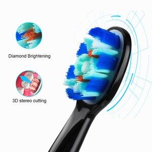 Image 2 - Зубная щетка электрическая, щетка для звуковой чистки зубов с умным таймером, 5 режимов, 3 запасных насадки, профессиональная гигиена, для путешествий