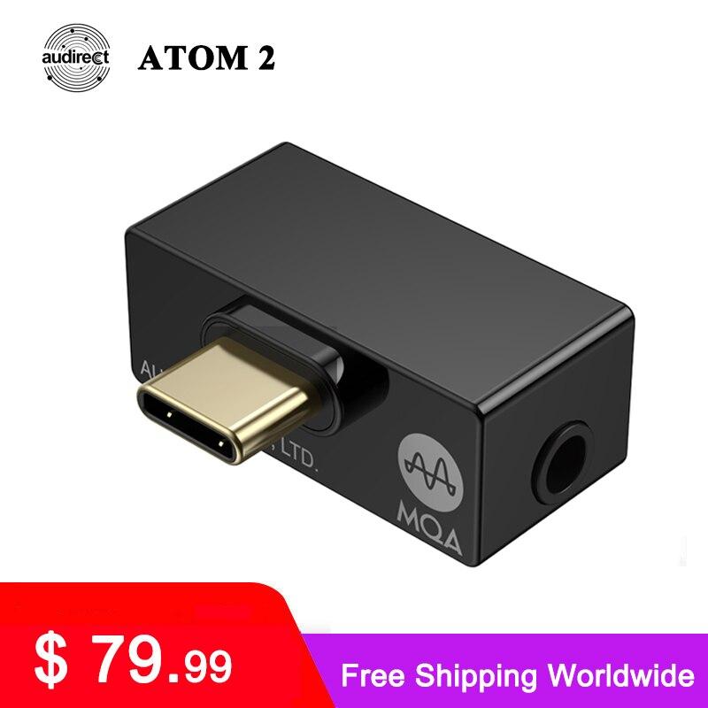 Портативный усилитель Hilidac Audirect Atom2 MQA HiFi USB DAC/AMP ES9281AC DSD512 32 бит/768 кГц Type C/ Lightning Atom 2
