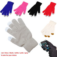 Новинка; Осень зима; Женские вязаные перчатки теплые для сенсорного