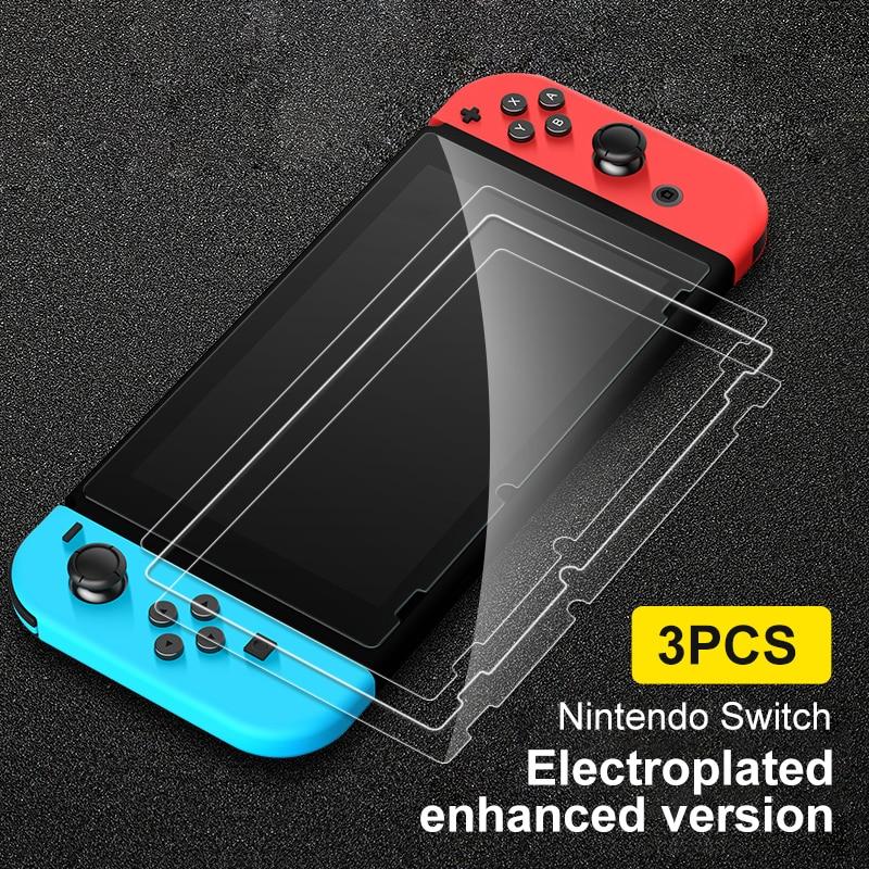 Комплект из 3 предметов, Защитная пленка для экрана 0,3 мм 9H HD закаленное Стекло пленка для Nintendo Switch консоль NS NX Для Nintendo аксессуары для перекл...