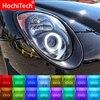 Najnowszy reflektor wielokolorowy RGB LED Angel Eyes efekt aureoli Eye DRL rf pilot zdalnego sterowania dla Alfa Romeo Mito 2008-2015 akcesoria