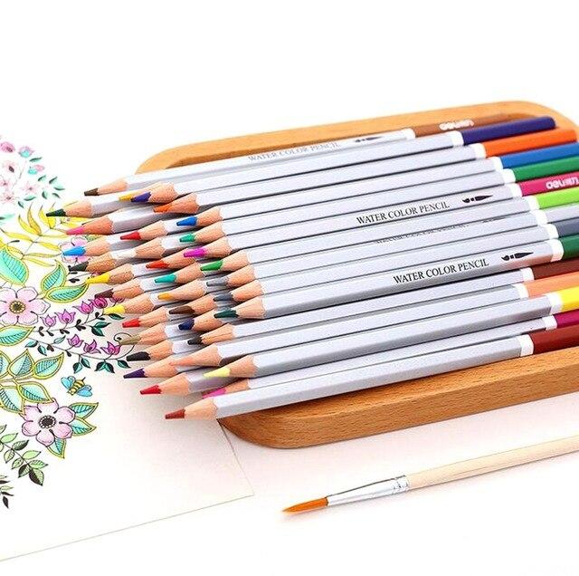 24 36 48 72 lapis de cor profesyonel Renkli Kalemler 72 Suluboya Kalemler Kurşun Suda çözünür Renk kalem seti Sanat malzemeleri