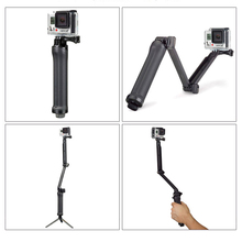 цена на Monopod 3-way Folding Arm Tripod Handheld Grip Self Stick for Gopro Hero 7/6/5/4/3/3+/2/1 SJCAM SJ4000 Xiaomi Yi