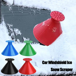 4/2/1Pcs Car Windshield Ice Scraper Cone Shaped Ice Removal Funnel Snow Removal Deicer Car Window Deicing Scraper Car Clean Tool