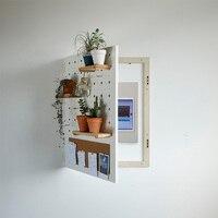 Pudełko na miernik ozdobna ramka skrzynka rozdzielcza osłona skrzynki elektrycznej otwór płyta dekoracja ścienna twórcza roślina stojak na w Haki i szyny od Dom i ogród na