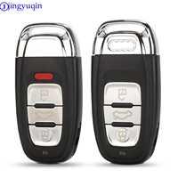 Jingyuqin 3 botões inteligente remoto chave do carro caso capa escudo fob para audi a4l a6l q5 a5 754c/754g com lâmina