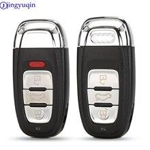 Jingyuqin 3 أزرار الذكية مفتاح السيارة عن بعد قذيفة غطاء علبة فوب لأودي A4L A6L Q5 A5 754C / 754G مع شفرة