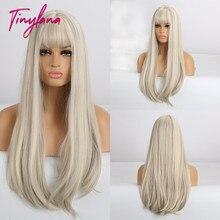 صغيرة لانا طويل مستقيم الشعر البني شقراء ضوء الذهب الاصطناعية النساء الباروكات ل الأفرو والأمريكية ألياف مقاومة للحرارة تأثيري