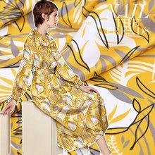 Шелковая ткань для одежды цифровая печать эластичная атласная