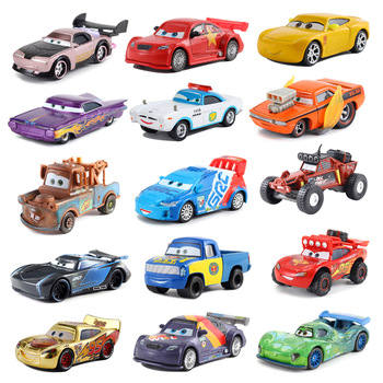 Disney Pixar Cars 2 3 Lightning McQueen Mater Jackson Storm Ramirez 1:55 Diecast Vehicle Buster Car combination Boy Toys Gifts image