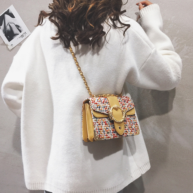 Luxury Handbags Women Bags Designer Multicolor Weaving Shoulder Bags for Women 2019 Pu Leather Crossbody Messenger Bags Female in Shoulder Bags from Luggage Bags