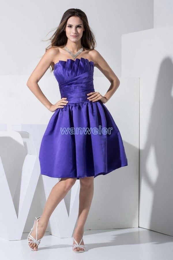Special Vestido Madrinha De Casamento Knee-length Bridesmaid Dresses For Weddings 2016 Hot Sale A-line Custom Pleat Scalloped
