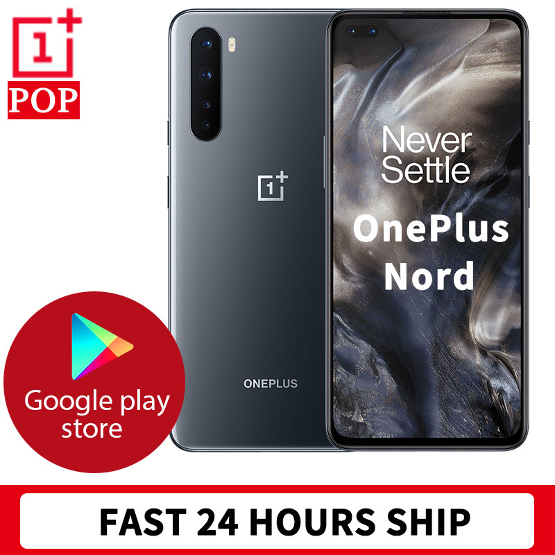 STOCK 24 HOURS FAST SHIP Global Version OnePlus Nord 5G Mobile Phone 6.44 inch Fluid AMOLED Snapdragon 765G 48MP Quad Cameras