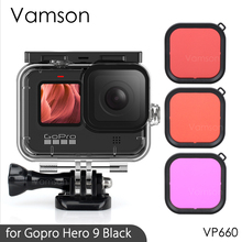 Protective Silicone Case for GoPro Hero 9 Black Tempered Glass Screen Protector for Go