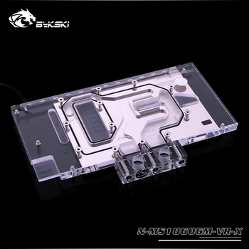 Bykski GPU water cooling block work with MSI GTX 1060 GAMING VR X6G gpu cooler support sync mainboard N-MS1060GM-VR-X,heat sink image