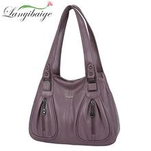 Female Shoulder Crossbody Bags For Women 2021 Ladies Soft High Quality Leather Luxury Kangaroo Brand Handbags Bucket Bag