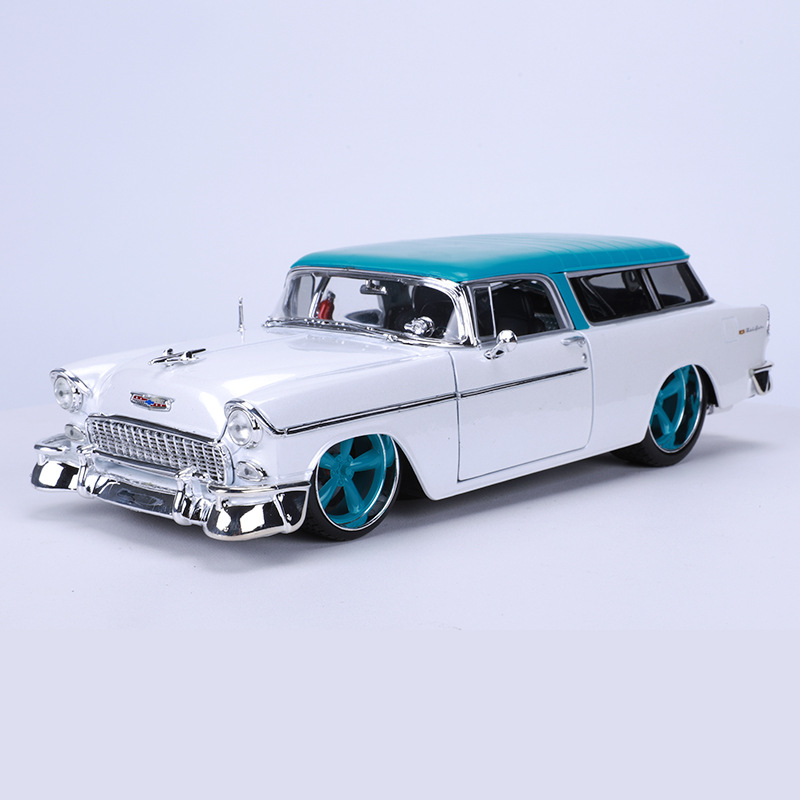 Maisto 1955 Chevrolet Car Model 1: 18 Model Alloy Vintage Car Modified Model Sports Car Rangers