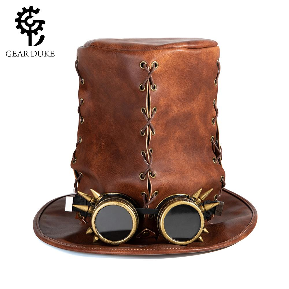 Fancy Steampunk Cosplay Hat With Goggles