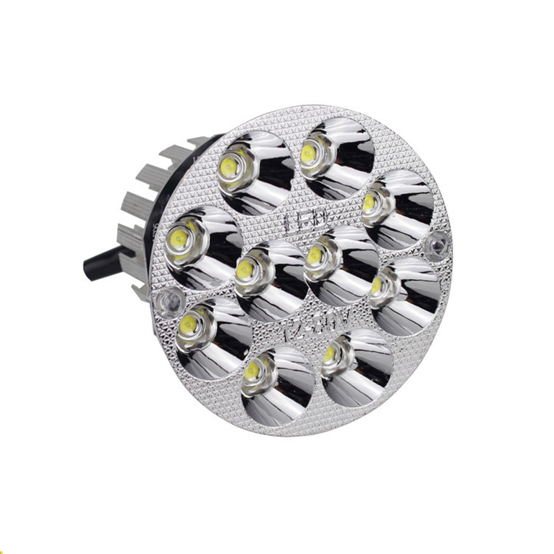 Motorcycle <font><b>LED</b></font> Built-in Headlights Electric Car Headlights Universal <font><b>12</b></font> to <font><b>80V</b></font> Voltage Round 10 Beads Built-in Large Bulb image