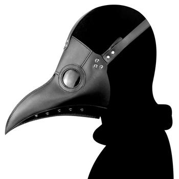 Halloween Gothic Steampunk Crow Reaper maska do zarazy Schnabel maska klauna ptak fantazyjne diabeł Anime Cosplay Party straszny kostium tanie i dobre opinie Reaper Nevermore Plague Doctor Unisex Dla dorosłych Other Maski Kostiumy black white Length=30cm Height=25cm Reaper Plague Doctor Mask