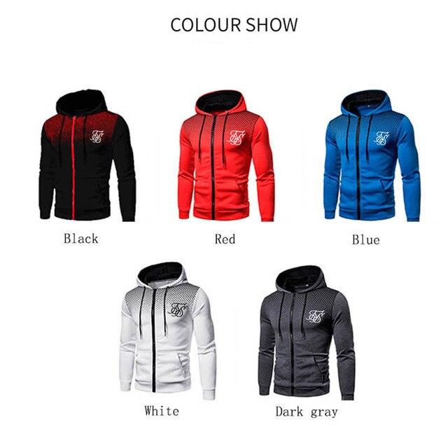Ropa Hompre High Street Brand SikSilk Plus Velvet Print Polka Dot Men's Hoodie Outdoor Street Sports Running Training Sweatshirt 2