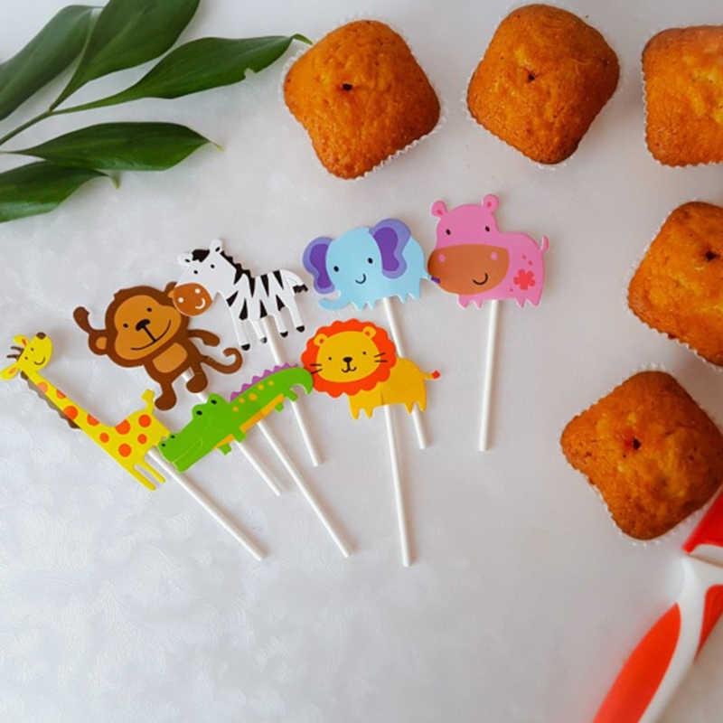 Jungle วันเกิดตกแต่งทิ้งชุดถ้วยสำหรับเด็กวันเกิด lion king 1 จำนวนบอลลูน 1st วันเกิดตกแต่งสัตว์